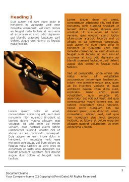 Lock This Chain Word Template, Second Inner Page, 01934, General — PoweredTemplate.com