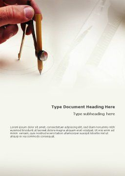 Draftsman Word Template, Cover Page, 01937, Business Concepts — PoweredTemplate.com