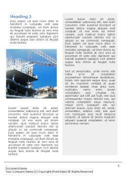 Architectures At The Building Site Word Template, Second Inner Page, 01938, Business — PoweredTemplate.com