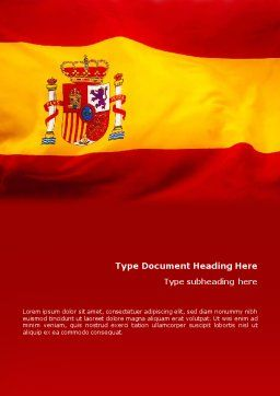 Spanish Flag Word Template, Cover Page, 01942, Flags/International — PoweredTemplate.com
