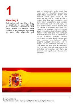 Spanish Flag Word Template, First Inner Page, 01942, Flags/International — PoweredTemplate.com