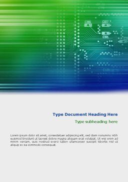 Printed Circuit Board Word Template, Cover Page, 01945, Technology, Science & Computers — PoweredTemplate.com