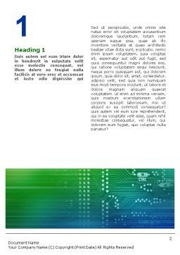 Printed Circuit Board Word Template, First Inner Page, 01945, Technology, Science & Computers — PoweredTemplate.com