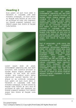 Solution Word Template, Second Inner Page, 01946, Business Concepts — PoweredTemplate.com