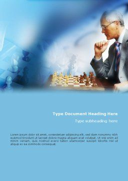 Chess Game Word Template, Cover Page, 01955, Sports — PoweredTemplate.com