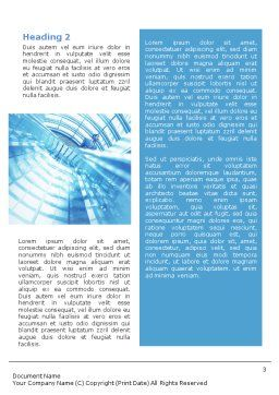 Office Building Hall Word Template, Second Inner Page, 01957, Business — PoweredTemplate.com