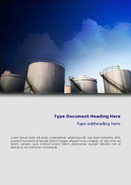 Fuel Tank Word Template, Cover Page, 01958, Utilities/Industrial — PoweredTemplate.com