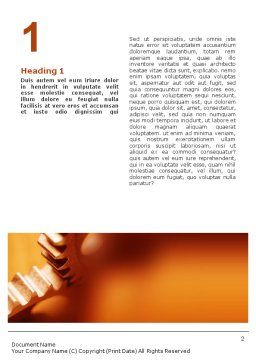 Gear Word Template, First Inner Page, 01959, Construction — PoweredTemplate.com
