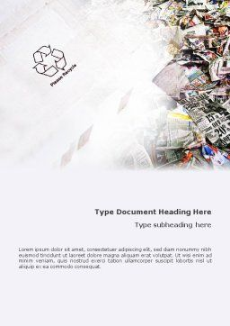 Recycle Industry Word Template Cover Page