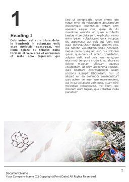 Recycle Industry Word Template First Inner Page