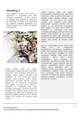 Recycle Industry Word Template Second Inner Page
