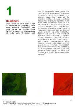 Italian Flag Word Template, First Inner Page, 01964, Flags/International — PoweredTemplate.com