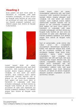 Italian Flag Word Template Second Inner Page