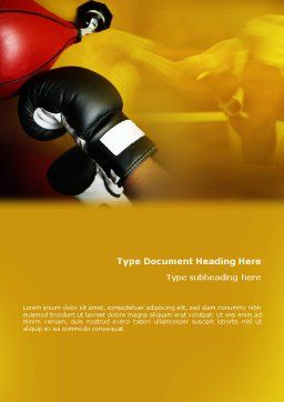 Boxing Training Word Template, Cover Page, 01965, Sports — PoweredTemplate.com