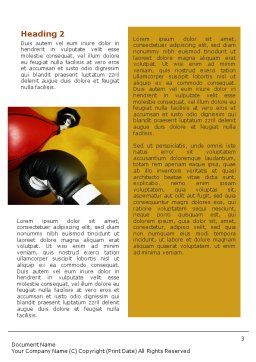 Boxing Training Word Template, Second Inner Page, 01965, Sports — PoweredTemplate.com