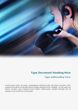 Driving Safety Free Word Template, Cover Page, 01967, Consulting — PoweredTemplate.com