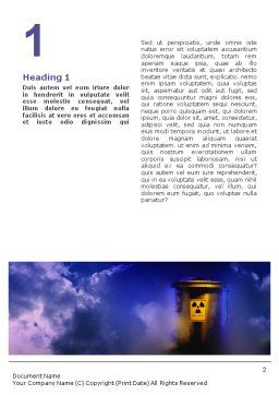 Nuclear Waste Word Template, First Inner Page, 01969, Nature & Environment — PoweredTemplate.com