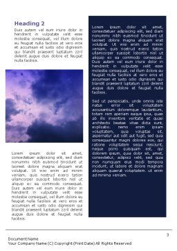 Nuclear Waste Word Template, Second Inner Page, 01969, Nature & Environment — PoweredTemplate.com