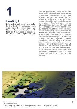 Puzzle of World Word Template, First Inner Page, 01971, Business Concepts — PoweredTemplate.com