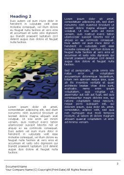 Puzzle of World Word Template, Second Inner Page, 01971, Business Concepts — PoweredTemplate.com