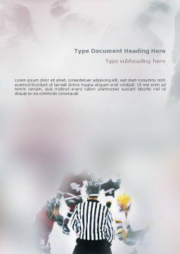 Ice Hockey Referee Word Template, Cover Page, 01973, Sports — PoweredTemplate.com