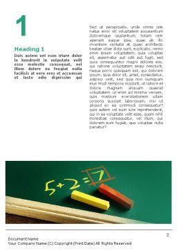 Arithmetic Word Template, First Inner Page, 01974, Education & Training — PoweredTemplate.com