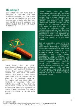 Arithmetic Word Template, Second Inner Page, 01974, Education & Training — PoweredTemplate.com