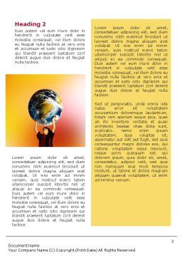 Earth In Young Pupil Hands Word Template, Second Inner Page, 01975, Education & Training — PoweredTemplate.com