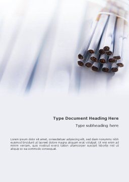 Cigarettes Word Template Cover Page