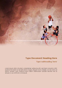 Streetball Word Template, Cover Page, 01979, Sports — PoweredTemplate.com