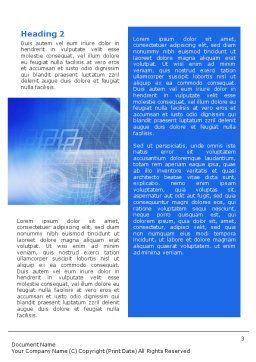 E-business Word Template, Second Inner Page, 01983, Business Concepts — PoweredTemplate.com