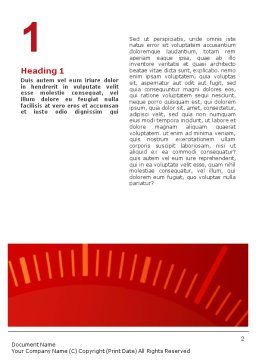 Speedometer Word Template, First Inner Page, 01985, Sports — PoweredTemplate.com