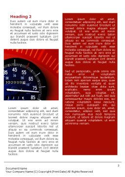 Speedometer Word Template, Second Inner Page, 01985, Sports — PoweredTemplate.com