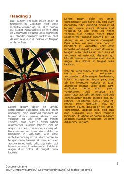 Darts Word Template, Second Inner Page, 01986, Business — PoweredTemplate.com