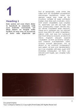 Astronomy Word Template, First Inner Page, 01987, Education & Training — PoweredTemplate.com