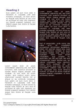 Astronomy Word Template, Second Inner Page, 01987, Education & Training — PoweredTemplate.com