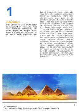 Pyramids Word Template First Inner Page