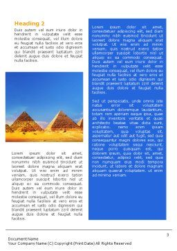 Pyramids Word Template Second Inner Page