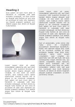 Idea Word Template, Second Inner Page, 01989, Business Concepts — PoweredTemplate.com