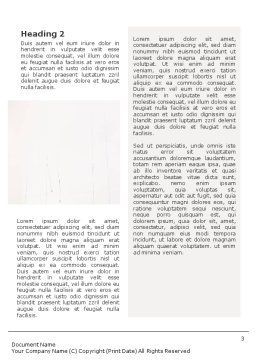 House Painters Word Template, Second Inner Page, 01992, Construction — PoweredTemplate.com