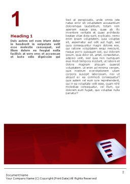 Red Histogram Word Template First Inner Page