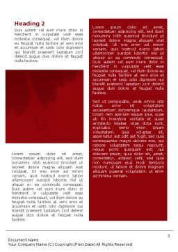 Red Histogram Word Template Second Inner Page