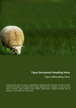 Sheep Word Template Cover Page