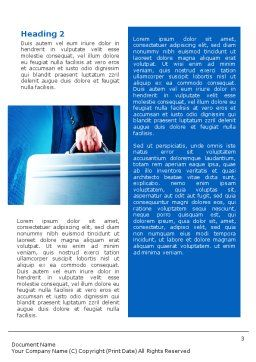 Suitcase  Word Template, Second Inner Page, 01996, Business Concepts — PoweredTemplate.com