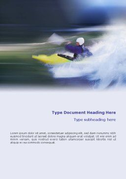 Kayak Word Template, Cover Page, 01998, Sports — PoweredTemplate.com