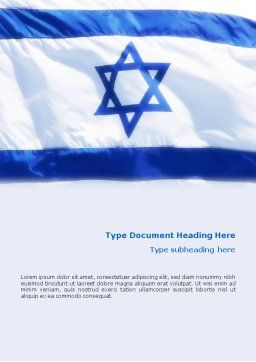 Flag of Israel Word Template, Cover Page, 02002, Flags/International — PoweredTemplate.com