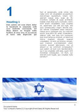 Flag of Israel Word Template, First Inner Page, 02002, Flags/International — PoweredTemplate.com