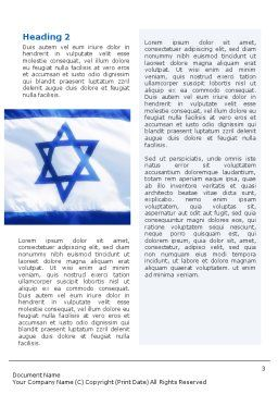 Flag of Israel Word Template Second Inner Page