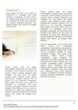 Business Consulting Session Word Template, Second Inner Page, 02003, Consulting — PoweredTemplate.com