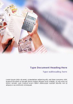 Discount Word Template, Cover Page, 02004, Financial/Accounting — PoweredTemplate.com